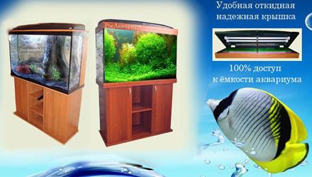 Продажа классических аквариумов с подсветкой.