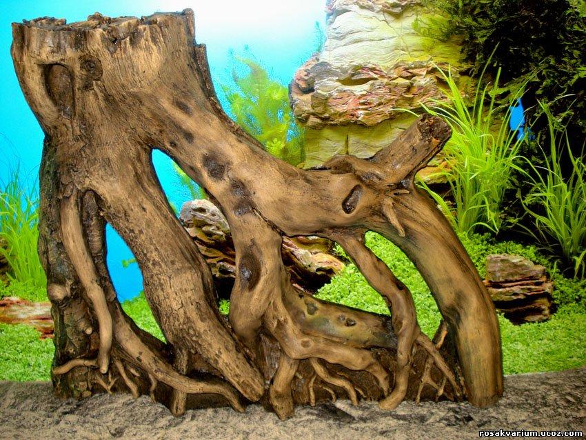 Как сделать корягу своими руками для аквариума
